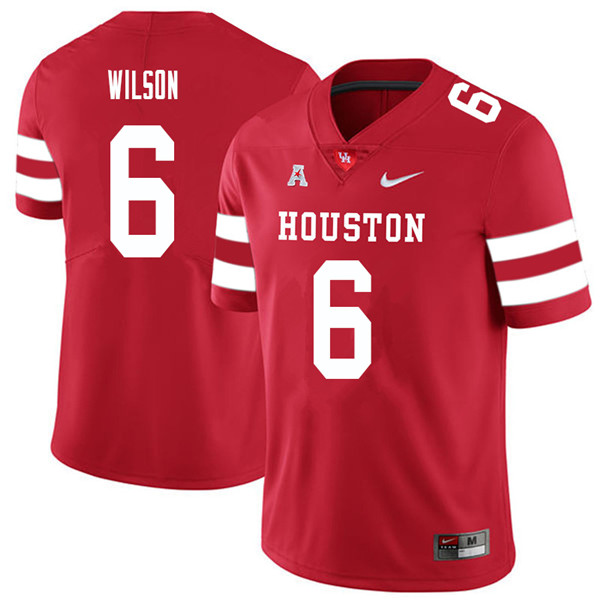 2018 Men #6 Howard Wilson Houston Cougars College Football Jerseys Sale-Red